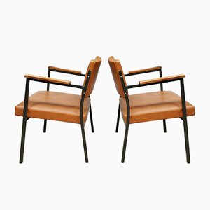 Vintage Industrial Dutch Armchairs, 1960s, Set of 2