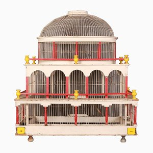 19th Century Painted Bird Cage