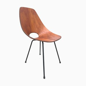 Curved Plywood Chair by Vittorio Nobili for Fratelli Tagliabue, 1950s