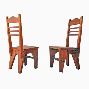 Brutalist Side Chairs, 1950s, Set of 2