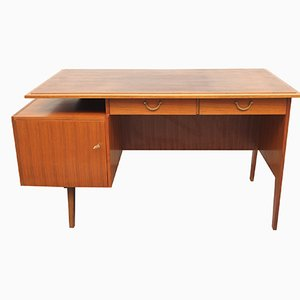 Bicolor Walnut Desk, 1950s