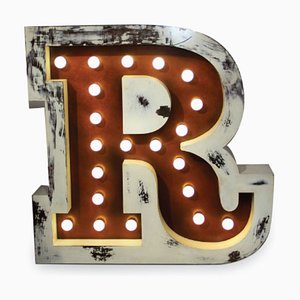 Letter R Graphic Lamp by DelightFULL