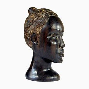 Cared Ebony Bust, 1970s