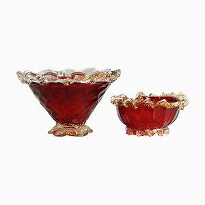 Vintage Schalen aus Muranoglas, 1950er, 2er Set