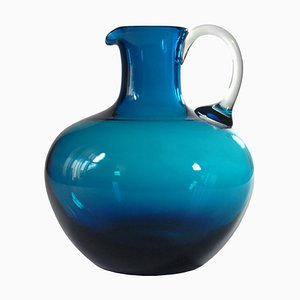 German Blue Glass Vase from Schott Zwiesel, 1980s