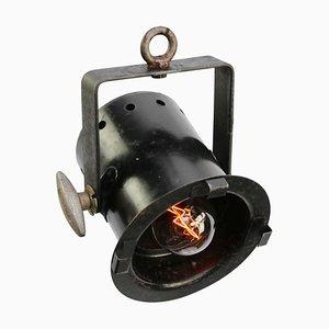 Vintage Spotlight Lampe aus Schwarzem Metall von Capitol, 1960er