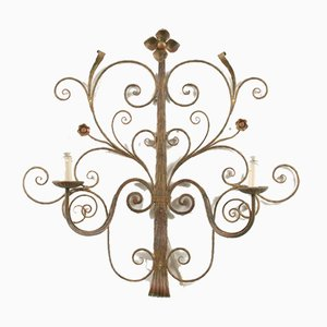 Mid-Century Metal Floral Sconce, 1960s