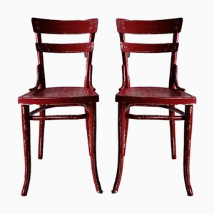 Mid-Century Shabby Chic Dining Chairs from Thonet, Set of 4