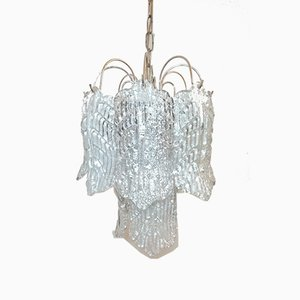 Mid-Century Murano Glass Sheets Ceiling Lamp