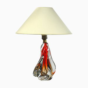 Mid-Century Murano Glas Tischlampe, 1960er