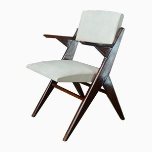 Bridge Chair with Compass Feet, 1950s