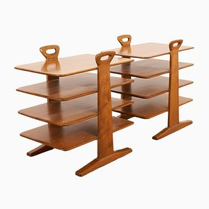 Vintage Swiss Solid Walnut Magazine Rack