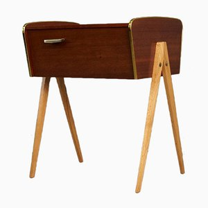Scandinavian Compass Sewing Table, 1960s