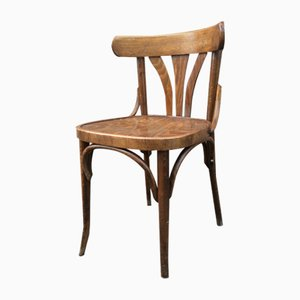 French Bistro Chairs, 1950s, Set of 8
