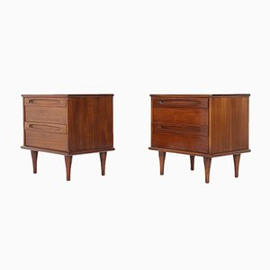 Brutalist Nightstands from Martinsville, 1960s, Set of 2