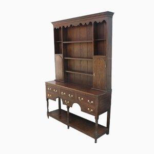 Large Oak Dresser with Display Rack, 1830s