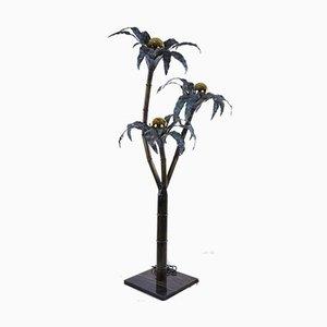 Vintage Marble Palm Floor Lamp