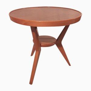 Tavolino da caffè rotondo Mid-Century in legno