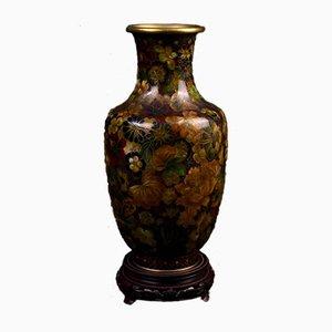 Japanische Bronze und Cloisonné Baluster Vase, 19. Jh