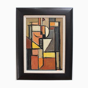 Cubist Composition by VR, 1950s