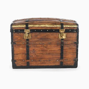 Wooden Chest with Fittings, 1940s