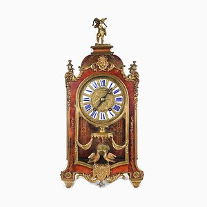 Antique Mechanical Clock in Inlaid Wood