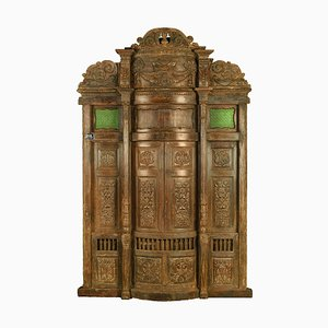Carved Wooden Door, 1850s