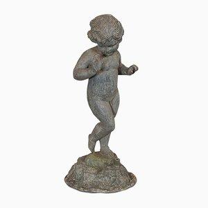 Statua antica da giardino Cherubino o Putto vittoriana, inizio XX secolo