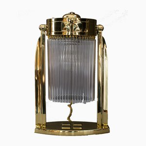 Art Deco Austrian Glass Sticks Table Lamp, 1920s