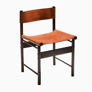 Sedie da pranzo Jacaranda Mid-Century con seduta in pelle color cognac di Jorge Zalszupin, set di 4