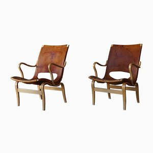 Eva Armchairs by Bruno Mathsson for Firma Karl Mathsson, 1966, Set of 2