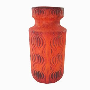 Orange Amsterdam Vase from Scheurich, 1960s