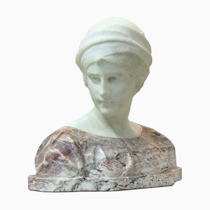 Antique Carrara Marble Sculpture by Guglielmo Pugi