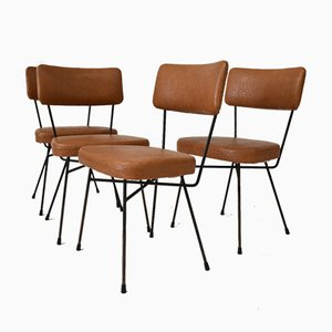 Vintage Electra Dining Chairs by BBPR for Arflex, 1950s, Set of 4