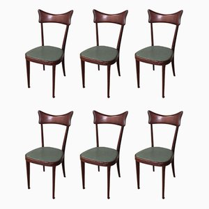 Mid-Century Dining Chairs in the Style of Ico Parisi, Set of 6