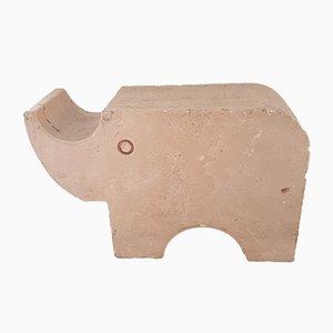 Fermalibri a forma di rinoceronte di Fratelli Mannelli, anni '70, set di 2
