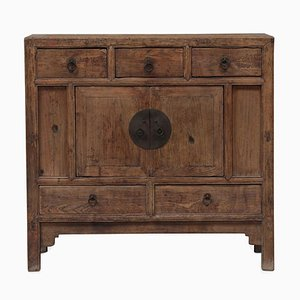 Chinese Elm Shanxi End Cabinet