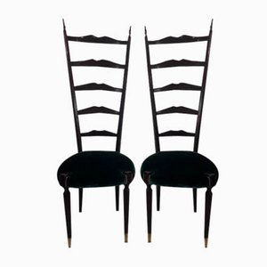Mid-Century Chiavarine Dining Chairs, Set of 2