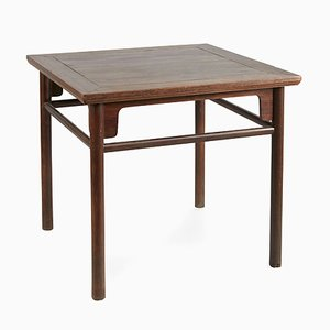 Antique Tieli Wood Square Table