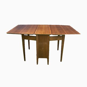 English Walnut Folding Table, 1970s