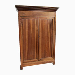 Antique Louis Philippe Walnut Wardrobe, 1900s