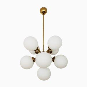 Opalglas Sputnik Kronleuchter, 1960er