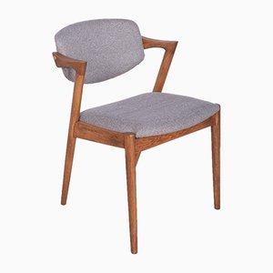 Chaises de Salon Modèle 42 en Chêne par Kai Kristiansen pour Schou Andersen, 1960s, Set de 4