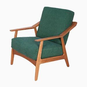 Dänischer Armlehnstuhl aus Eiche von Brockmann-Petersen für Randers Møbelfabrik, 1960er