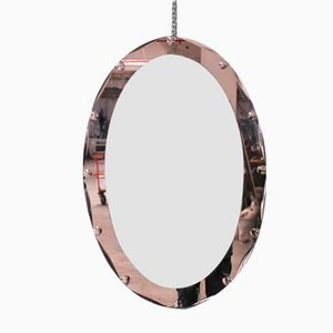 Oval Mirror by Cristal Art, 1950s