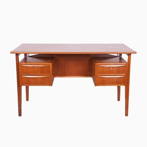 Danish Teak Desk by Gunnar Nielsen Tibergaard for Tibergaard, 1960s