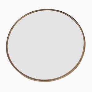 Vintage Round Brass Mirror