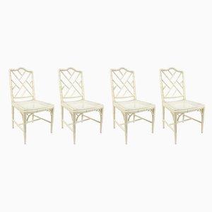 Stühle in Bambus-Optik, 1970er, 4er Set