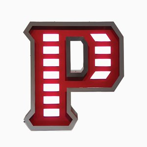 Letter P Graphic Lamp by DelightFULL