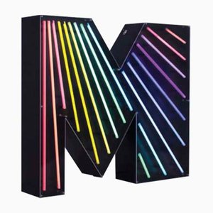 Letter M Graphic Lamp by DelightFULL